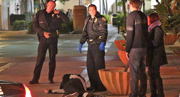 A 24-year-old Santa Barbara man was stabbed early Saturday during a brawl in downtown Santa Barbara. Anthony Ray Loza, 31, of Goleta faces assault charges in the incident. (John Palminteri / KEYT News photo)