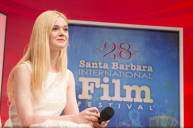 Actress Elle Fanning.