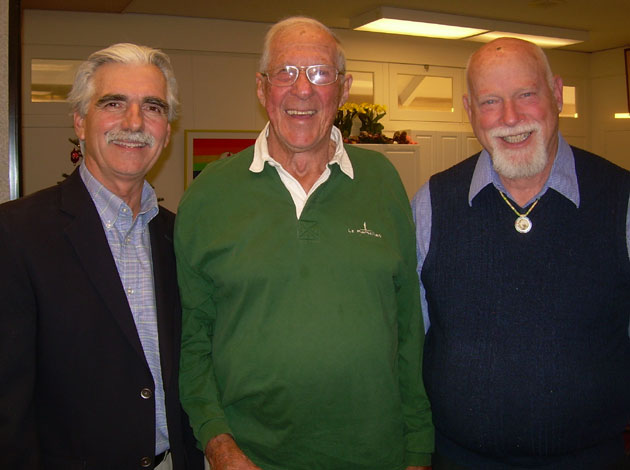 Friendship Center board President Marty Moore, left, with Robert Sorich and Ken Jewesson.