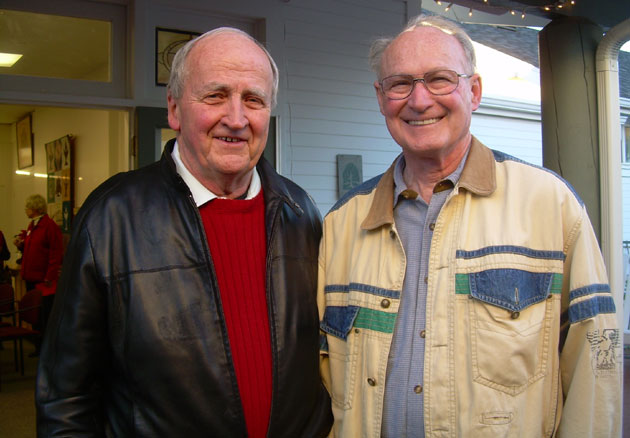 Friendship Center supporters Dave Raber and Dick Knaw.