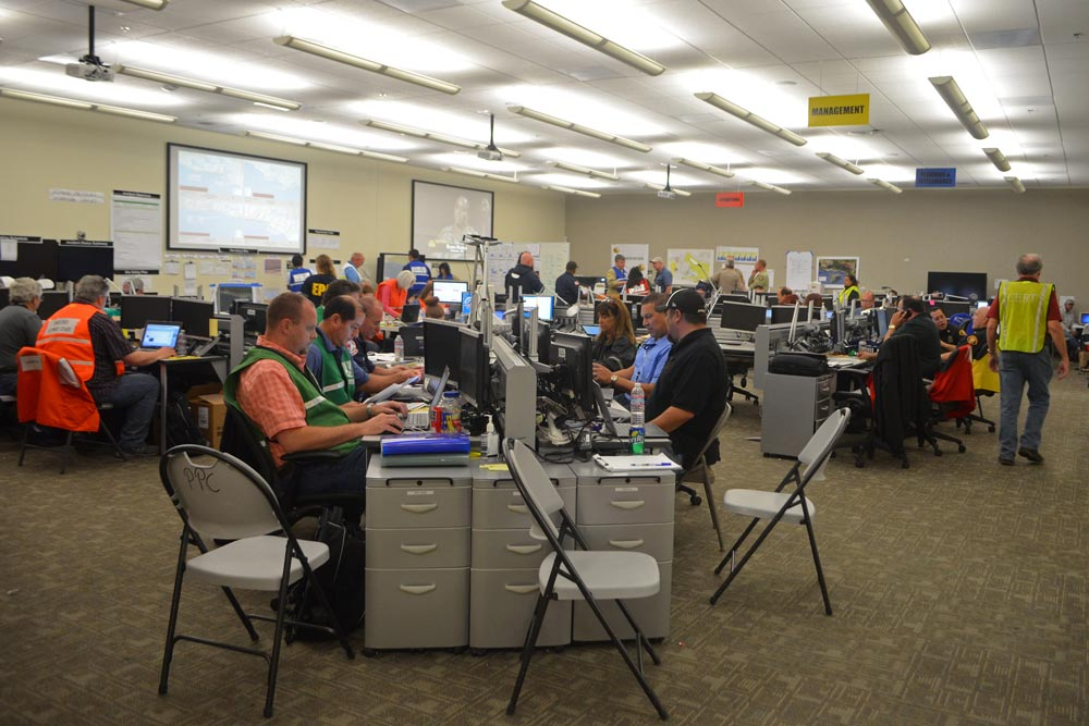 The Santa Barbara County Emergency Operations Center activates for disasters, such as the multiagency response to the 2015 Refugio oil pipeline leak.
