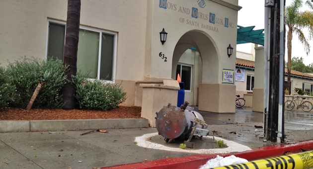<p>No one was injured Friday when an electrical transformer crashed to the ground outside the Eastside Boys and Girls Club in Santa Barbara.</p>