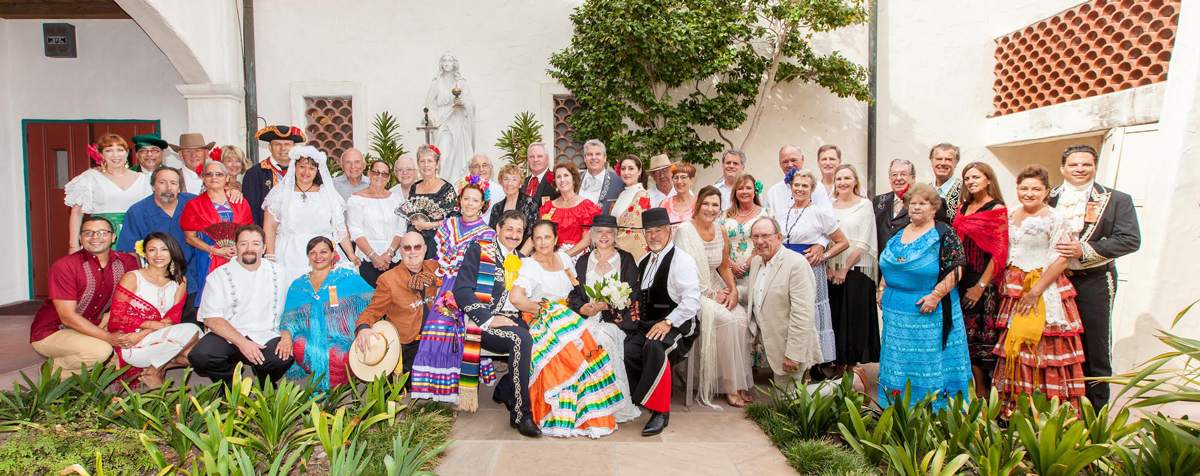 A Misa del Presidente at the Mission had a special component this year with a Blessing of Marriage Vows. El Presidente Cas Stimson and Primera Dona Kathy McClintock took part, along with 24 other loving couples.