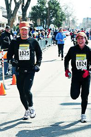 Hal and Fran Finney competed in the Denver Half-Marathon in April, prior to Hal's ALS diagnosis.