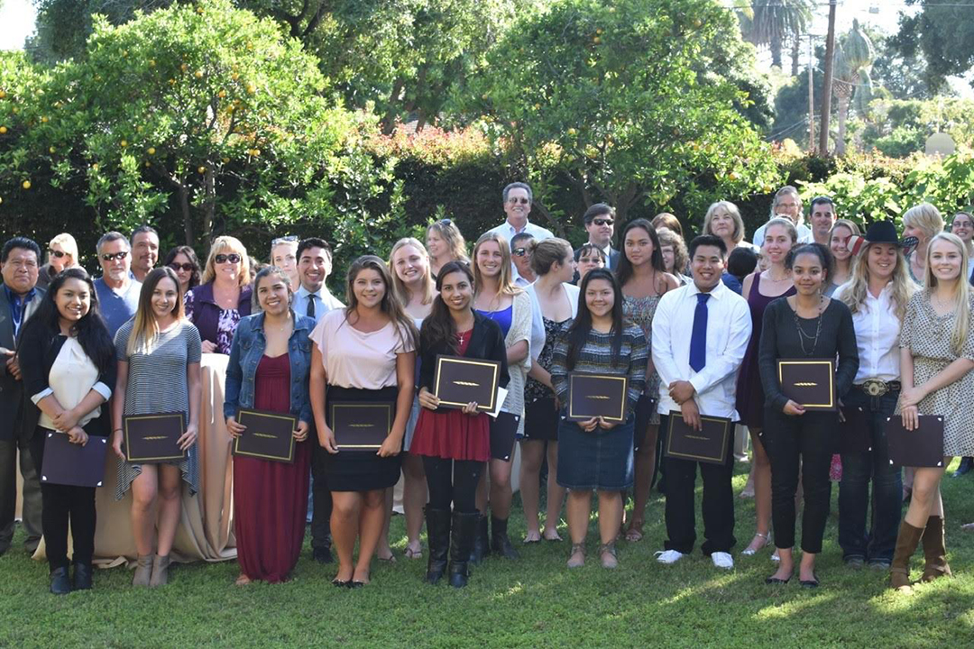 The 2016 Spaulding and Fleischmann Award recipients. The Santa Barbara Foundation presented a total of $72,250 to 26 graduating high school seniors.