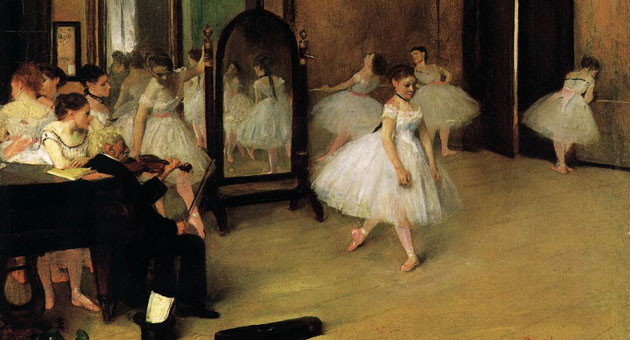 <p>Clothing styles and lighting fixtures may have changed since Edgar Degas painted &#8220;The Dancing Class&#8221; in 1870, but nothing else has.</p>