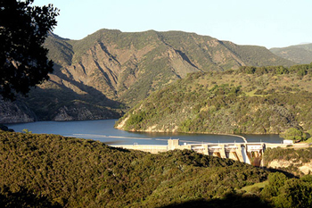 Gibraltar Reservoir, which supplies the city of Santa Barbara, is only about a third full due to a relatively dry rain season. (Noozhawk file photo)