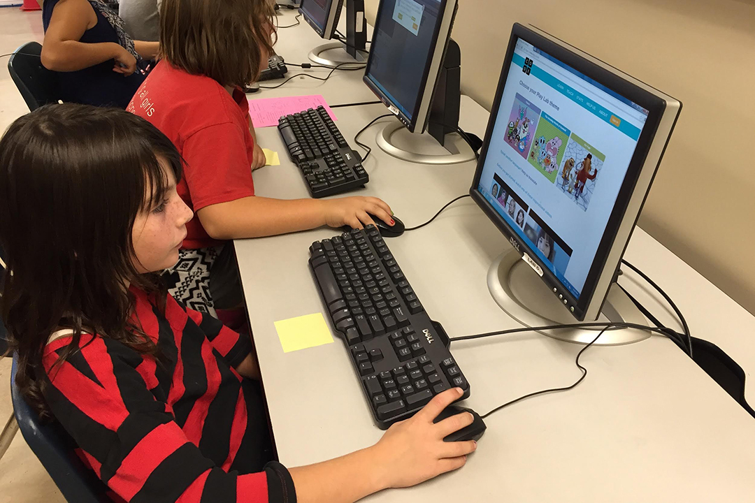 Girls Inc. participated in the Hour of Code as part of the organization's ongoing efforts to close the gender gap in tech and encourage all girls to code.