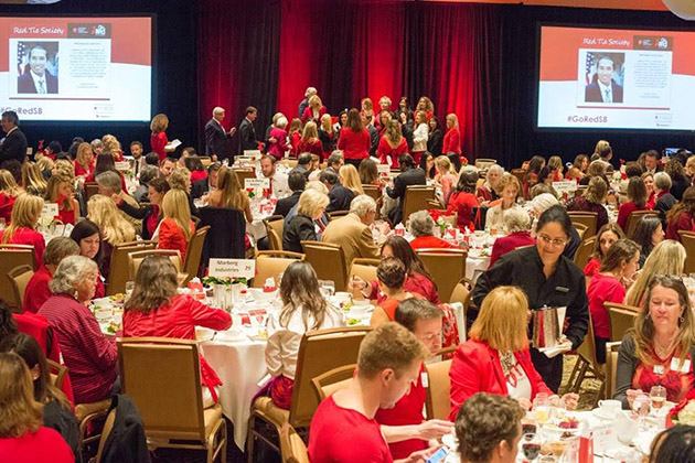 Attendees wore striking red at the 2014 Go Red for Women Luncheon.
