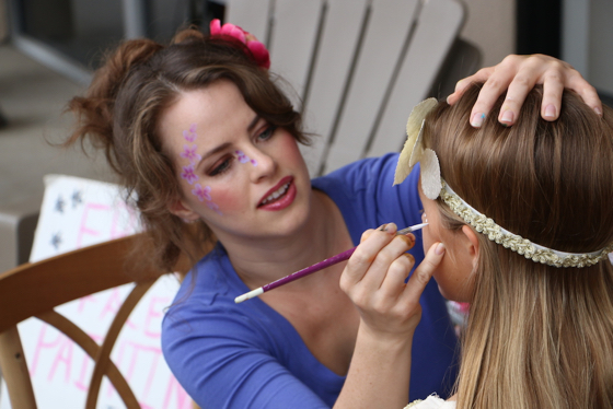 Face painters from Tea in Tiaras! had a busy day. (Glenn Avolio photo)
