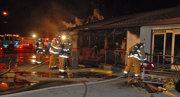 <p>Firefighters responded early Friday to a fire that caused major damage to the Hi Time Stop &amp; Shop convenience store at El Sueno Road and Calle Real near Santa Barbara.</p>