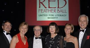 Honorees Ron, Marlys and Eric Boehm with Judy Pochini, Becky Snyder and Paul Didier.