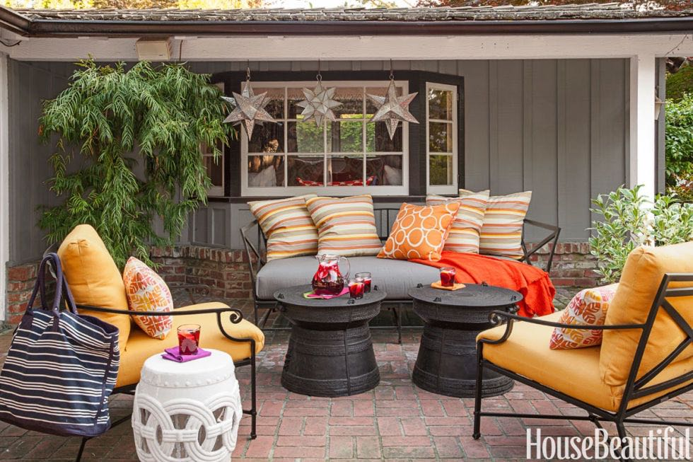 Bright And Colorful Throw Pillows Provide An Immediate Makeover For Your Outdoor Living Room
