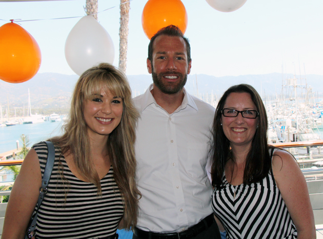 Paul Savighano, center, with Maren and Sarah Crandell.