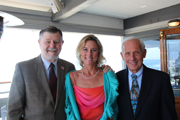 SBCC Trustee Peter Haslund, board member Gail Kvistad and Santa Barbara County Superintendent of Schools Bill Cirone.