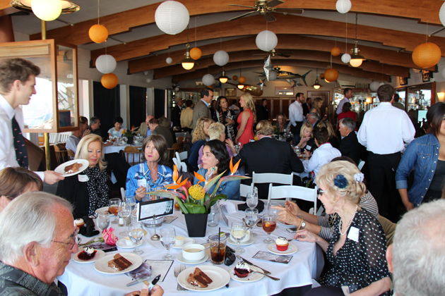 A full room at the Santa Barbara Yacht Club.