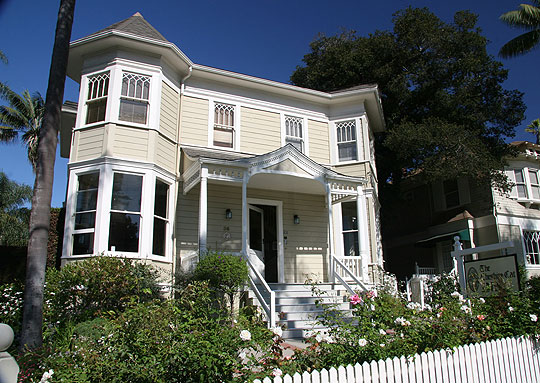 This 1890 Victorian at 36 W. Valerio St. is now the Cheshire Cat bed-and-breakfast.