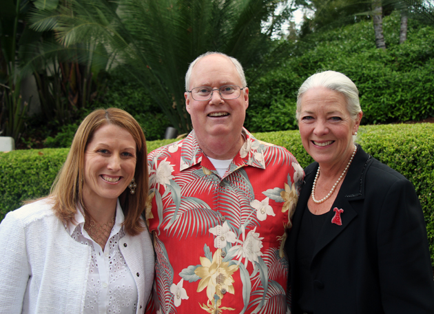 Alyssa Hendricks, left, of AHA-Central Coast with guest speaker Rich Block of the Santa Barbara Zoo and event co-chair Janet Garufis of Montecito Bank & Trust.