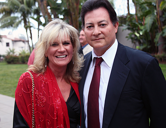 Joanne Funari, Business First Bank's executive vice president, with husband Carlos Plascencia.