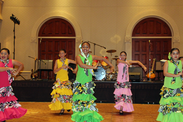Fiesta dancers entertain the crowd during a break in the live auction.