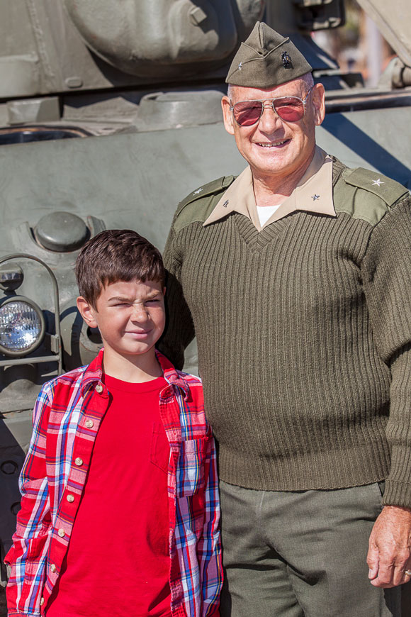 Retired Marine Corps Brig. Gen. Fred Lopez with his grandson, Ryan.