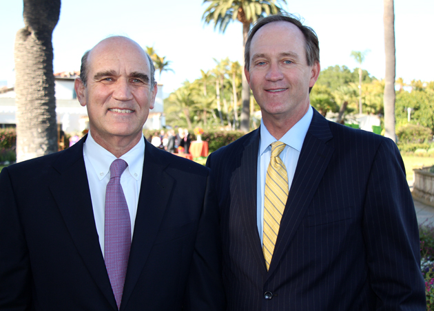Kurt Ransohoff, M.D., CEO and chief medical officer Sansum Clinic, with Rick Scott, president of the Cancer Center of Santa Barbara and vice president of oncology services at Sansum Clinic.