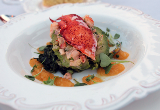 Fresh Maine lobster salad from Rincon Events and celebrity Chef Jamie West.
