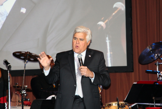 The Tonight Show's Jay Leno addresses the gala crowd.