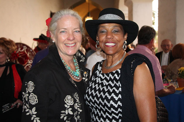 Janet Garufis, left, president/CEO of Montecito Bank and Trust, and Dee Dee Barrett.