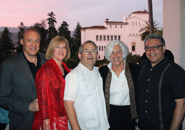 Advisory trustees Jim Lichtman, left, and Caren Rager, founding trustee Robert Ooley, board trustee Sue Adams and Santa Barbara County First District Supervisor Salud Carbajal.