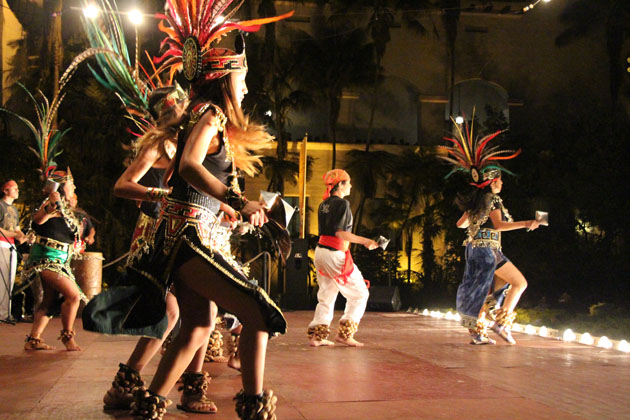 Dancers take the stage during Noches de Ronda in the Sunken Garden.
