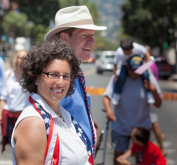 Santa Barbara Mayor Helene Schneider and Councilman Dale Francisco.