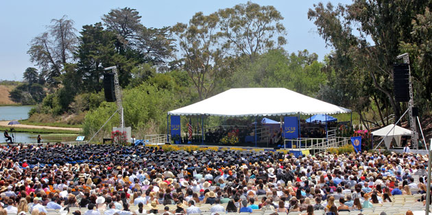 Chancellor Henry Yang told UCSB's newest alumni that, as of 'today and for the rest of your life you will be proud to say you are graduates of the University of California, Santa Barbara.' (Alex Kacik / Noozhawk photo)