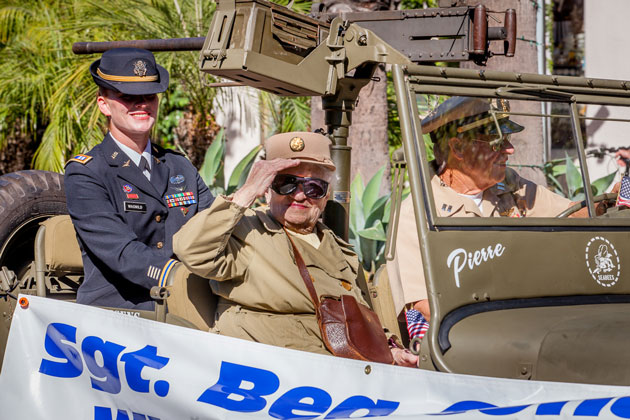 103-year-old Sgt. Bea Cohen.