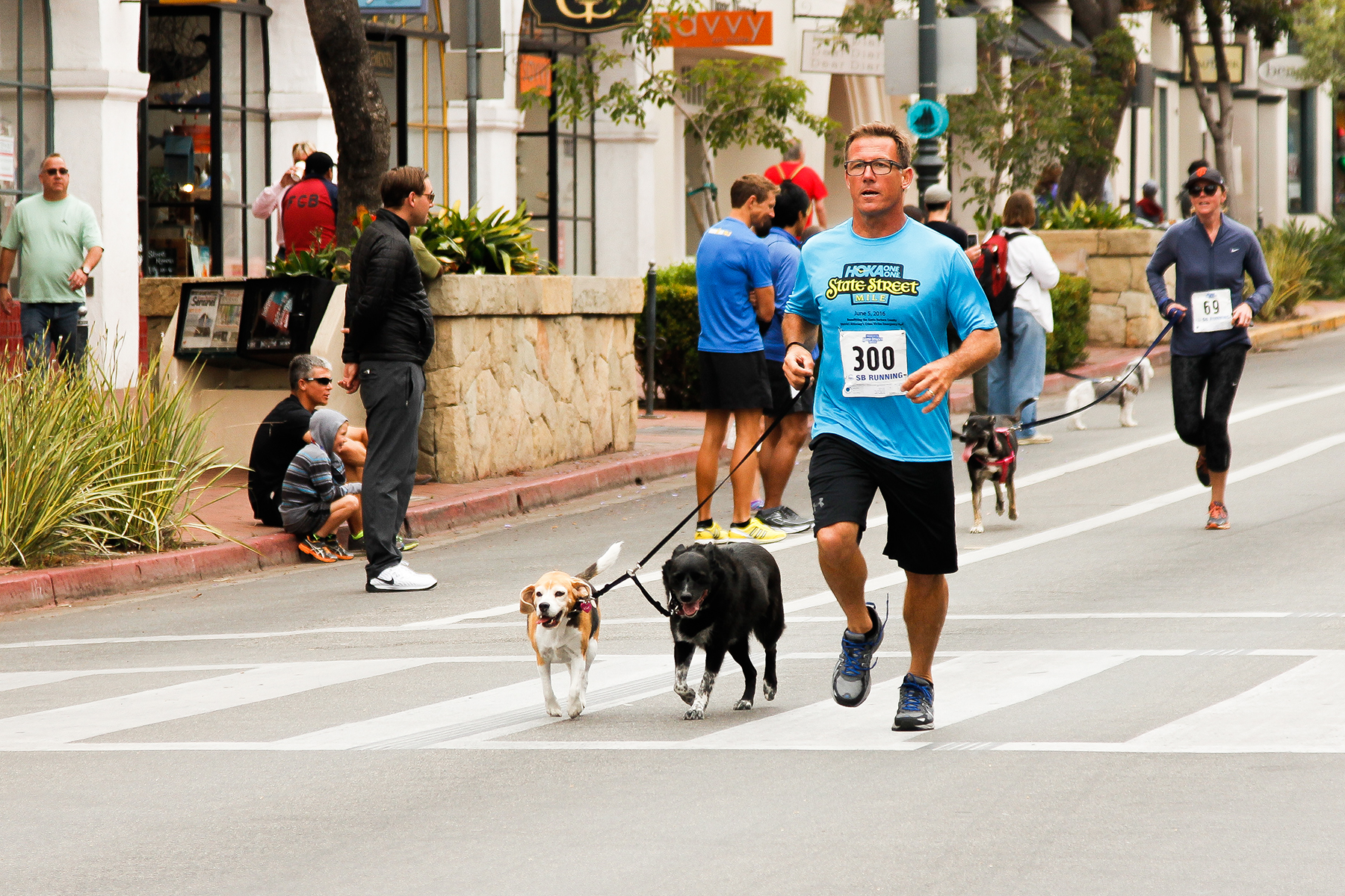 Brad Rochlitzer, 46, of Santa Barbara, and his dog finished the Dog Mile with a time of 7:50.