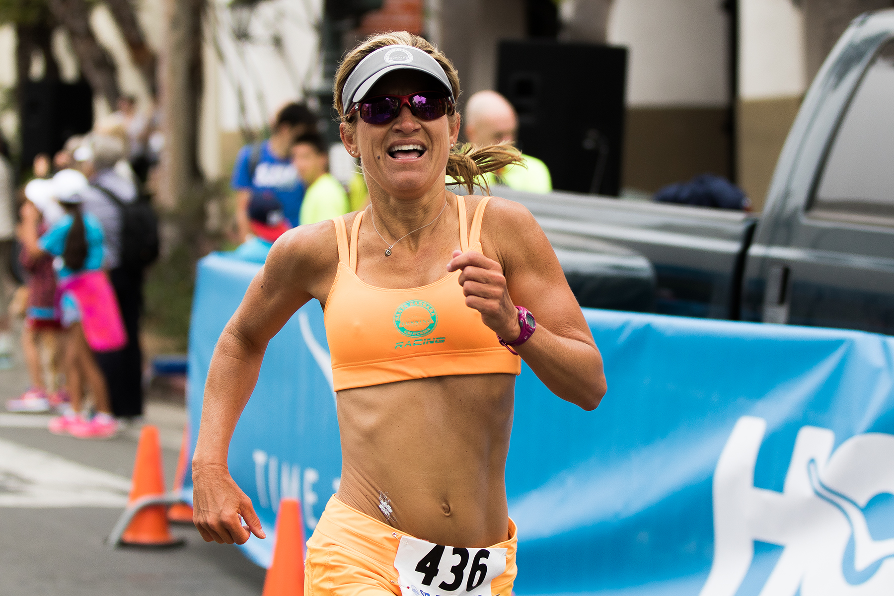 With a time of 5:19, Desa Mandarino, 45, of Santa Barbara finished first in the women's 40-49 age group.