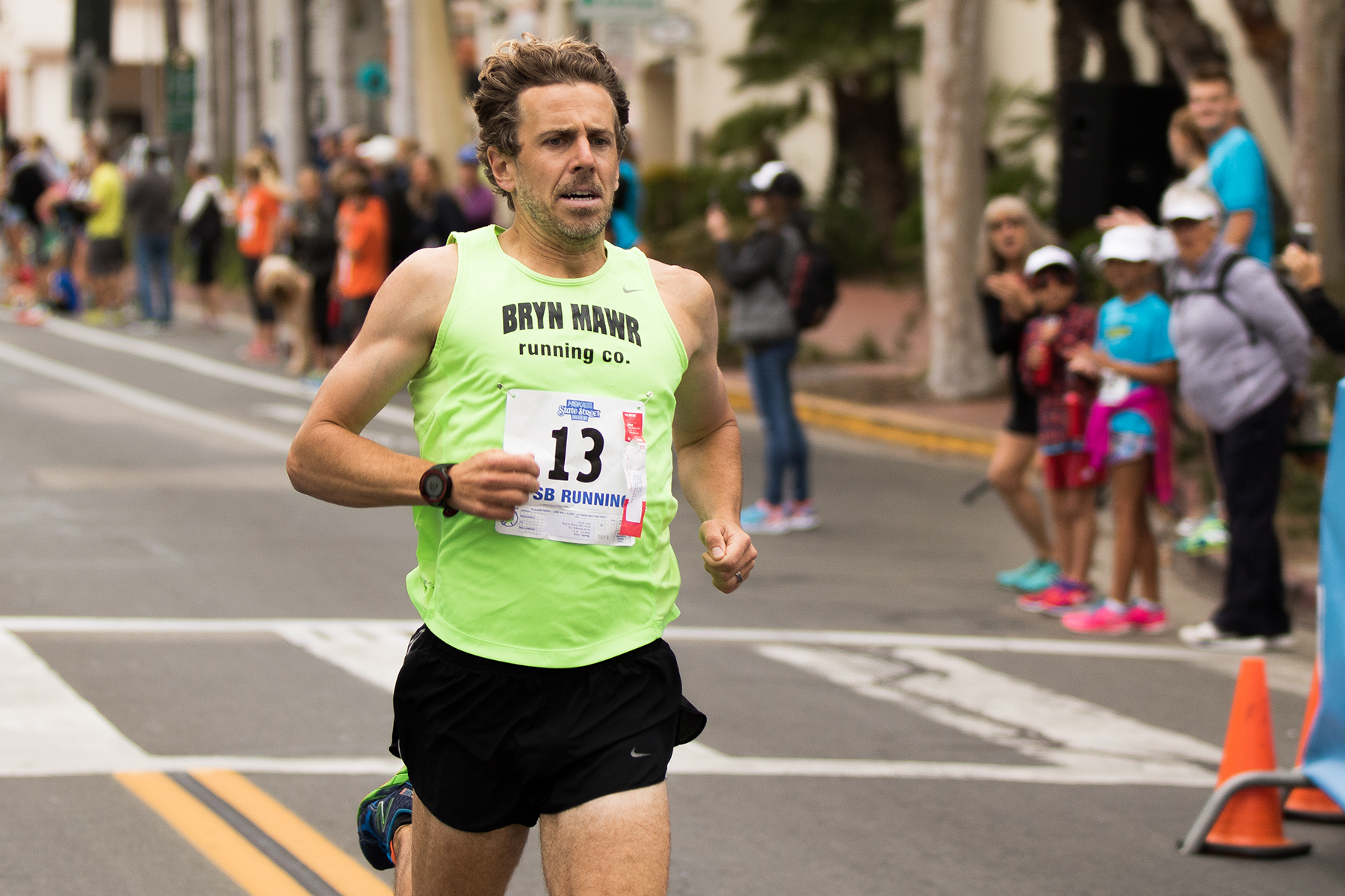 With a time of 5:17, Richard Cagley, 41, of Santa Barbara finished thirteenth in the 40-49 age group.