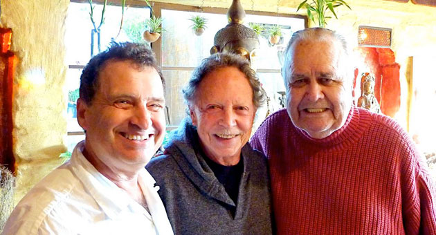 Jack Herschorn with Paul Horn and the late Jonathan Winters.
