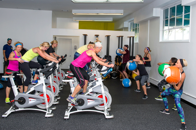 Jenny Schatzle Left Leads A Fitness Class For All Ages Shapes And Sizes Silas Fallstitch Jenny