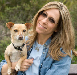 Certified professional dog trainer Joan Mayer and her sidekick, Poncho