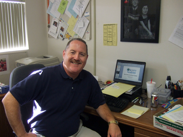 Joe Dana attended schools in the Orcutt Union School District. Today, he oversees the district's charter-school operations. (Gina Potthoff / Noozhawk photo)