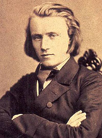 Johannes Brahms in 1853, the year he became an ad hoc member of the Clara and Robert Schumann family.
