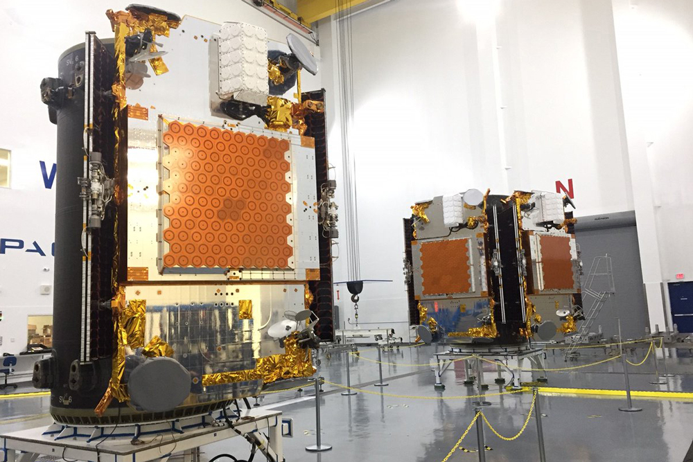 All 10 Iridium Next satellites were attached to the dispensers ready for the second launch aboard a Falcon 9 rocket at Vandenberg Air Force Base. The launch is planned for Sunday afternoon.