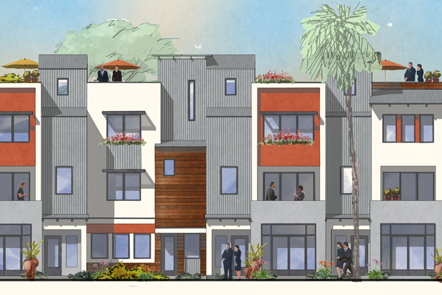 The Goleta Planning Commission  approved plans for a mixed-use project on South Kellogg Avenue.