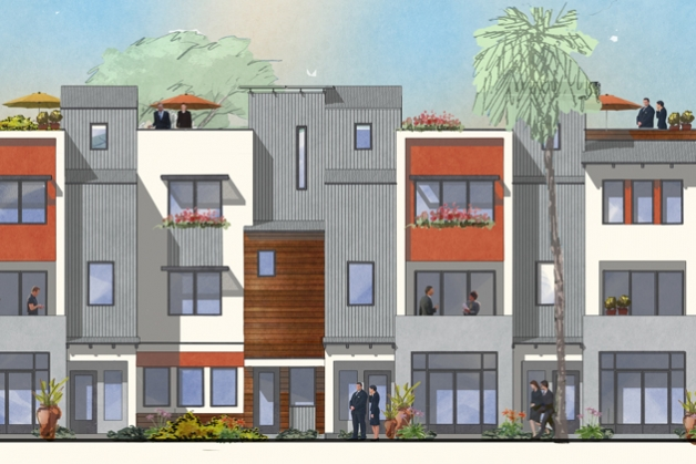 Forget the design, have you ever seen so many suits in Old Town Goleta? (RRM Design Group rendering)