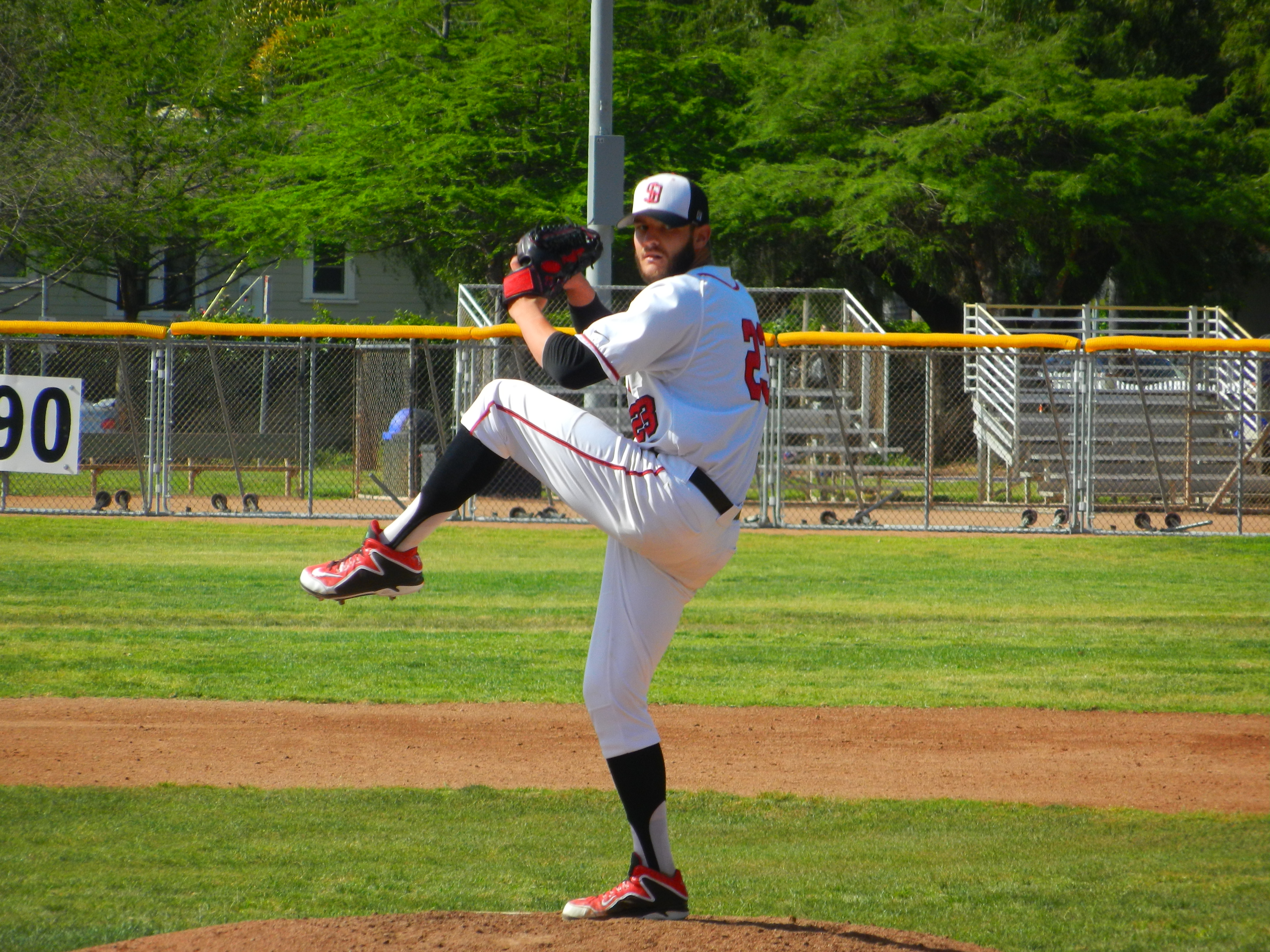 SBCC's Kyle Wade hurled five shutout innings on Thursday.