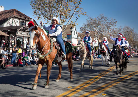 The Los Padres Trail Riders were riding tall in their saddles after earning Best Equestrian Entry. (Solvang Conference & Visitors Bureau photo)