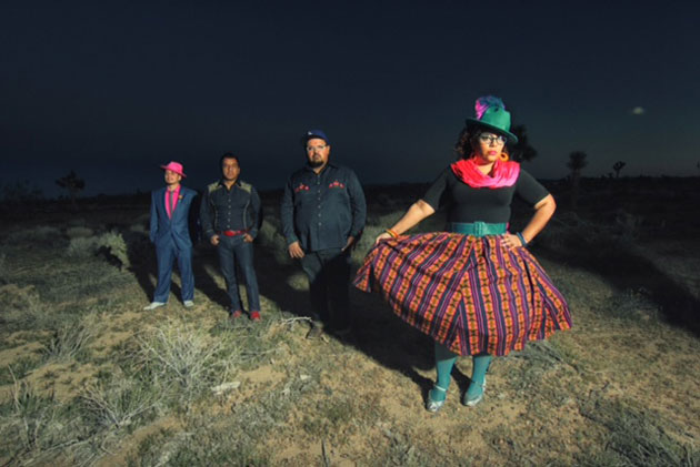 Grammy-winning La Santa Cecelia played songs spanning their career, incorporating Angeleno rock, tango ballads, cumbia dance tunes, Norteño accordion, jaw-dropping electric guitar, and warm percussion from bongos and cajon to full drum kit.