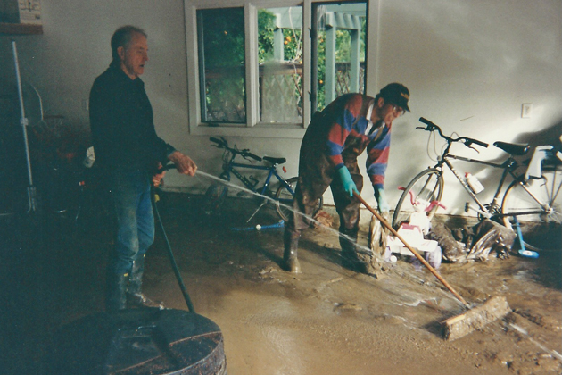 Flood insurance generally covers buildings and the contents inside them, typically up to $250,000 for a residential structure and up to $100,000 for personal belongings.