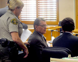 Chester Lee Taylor appeared Thursday in Santa Barbara County Superior Court, where he entered a no-contest plea to felony fraud and tax-evasion charges related to Montecito Motors.